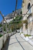 Amalfi dorpssteeg Annunziat Royalty-vrije Stock Fotografie