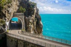 The Amalfi Drive. Scenic coastal route on the Amalfi Coast Royalty Free Stock Photo