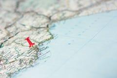 Amalfi en el mapa Imagen de archivo libre de regalías