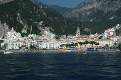 Amalfi form the sea Royalty Free Stock Photos