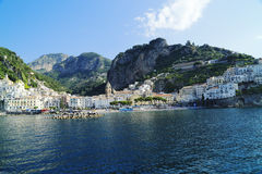 Amalfi. A glimpse of the Amalfi Coast seen from the sea Royalty Free Stock Images