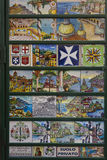 Amalfi hand painted ceramics Stock Photos