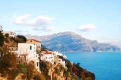 Amalfi het Landschap van de Kust Stock Afbeeldingen