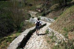 Amalfi hiker Royalty Free Stock Image