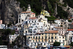 Amalfi houses Stock Image