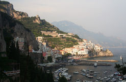 Amalfi in Italia del sud Immagine Stock