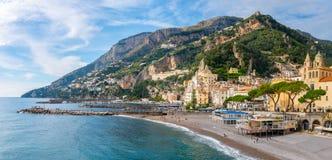 Free Amalfi, Italy - 1 November, 2019: Amalfi Cityscape On Coast Of Mediterranean Sea Stock Photos - 183057683