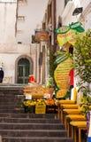 Amalfi, Italy - April 9, 2017: Fresh lemons, oranges on a street market royalty free stock image