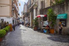 AMALFI ITALY - NOVEMBER 5 :  tourist walking in narrow treet of Stock Image