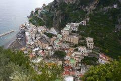 Amalfi-Küste von oben Lizenzfreie Stockfotografie