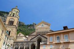 Amalfi Kathedraal Stock Foto