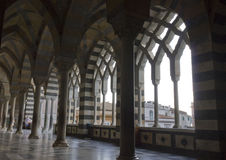 Amalfi Kathedraal, externe colonnade stock afbeeldingen