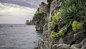 Amalfi kust Arkivbild