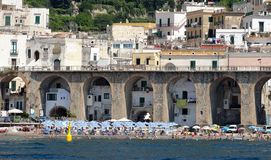 Amalfi Kust, Atrani Stock Afbeeldingen