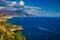 Amalfi kust - Campaniaregion, Italien Fotografering för Bildbyråer