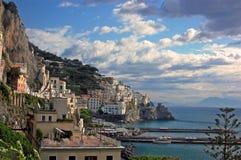 Amalfi Kust - de Mooie Stad van Amalfi Stock Afbeelding