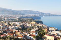 Amalfi kust i Italien fotografering för bildbyråer