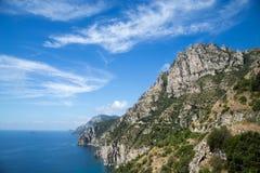 Amalfi kust i Italien, Europa Fotografering för Bildbyråer