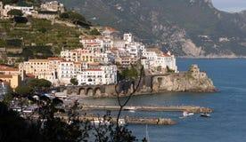 Amalfi Kust - Italië royalty-vrije stock afbeelding