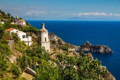 Amalfi kust - Salerno, Campania, Italien, Europa Arkivfoto