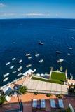 Amalfi kust - Salerno, Campania, Italien, Europa Arkivbilder