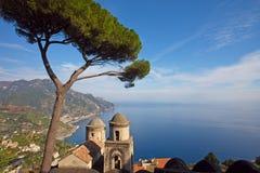 amalfi kust- sikt Fotografering för Bildbyråer
