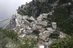 Amalfi Kust van hierboven Stock Afbeeldingen