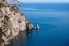 Amalfi kusthalvö Royaltyfri Foto