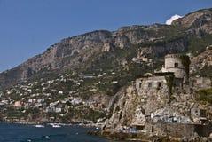 Amalfi kustlijn Stock Foto's
