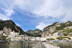 Waterfront of Amalfi, Italy Royalty Free Stock Photos