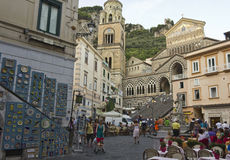 Amalfi main square Stock Images