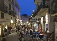 Amalfi main street at night Stock Images