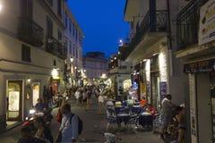 Amalfi main street at night Stock Photo