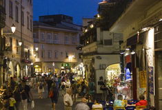 Amalfi main street at night Royalty Free Stock Photography