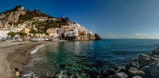 Amalfi mooie kustmening in Zuid-Italië Royalty-vrije Stock Fotografie
