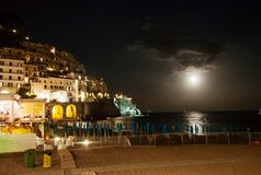 Amalfi by night, Italy. Night view of Amalfi in Italy Stock Image