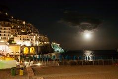 Amalfi by night, Italy Stock Image