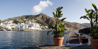 Amalfi old town landmark in Italy Positano coast. Royalty Free Stock Image