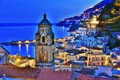 Amalfi in the province of Salerno, Campania, Italy. stock images