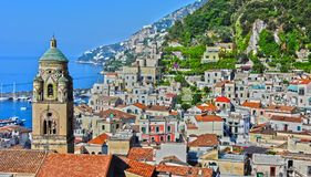 Amalfi in the province of Salerno, Campania, Italy stock photography