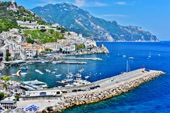 Amalfi in the province of Salerno, Campania, Italy stock image