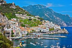 Amalfi in the province of Salerno, Campania, Italy royalty free stock photos
