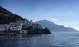 Amalfi. A scenic view from the sea of Amalfi Royalty Free Stock Photos