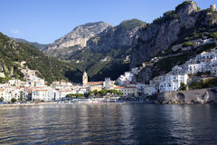 Amalfi. A scenic view from the sea of Amalfi Royalty Free Stock Photography