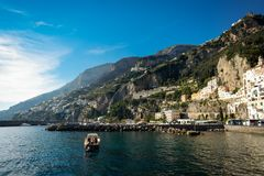 Amalfi, a small town and comune in the province of Salerno, Italy royalty free stock image