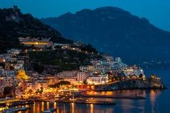 Amalfi stad Arkivbilder