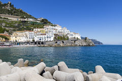Amalfi stad Royalty-vrije Stock Afbeeldingen