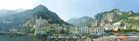 Amalfi stad in Italië Stock Afbeelding