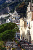 Amalfi town street, Italy. Stock Images