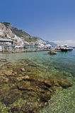 Amalfi transparent water Stock Photos